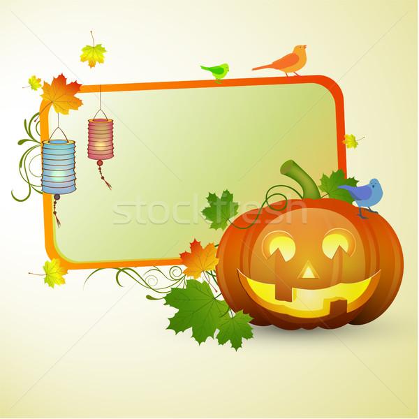 Autumnal vector card Stock photo © RamonaKaulitzki
