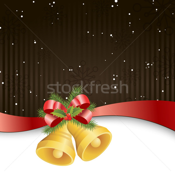 Рождества дизайна звездой красный лента празднования Сток-фото © RamonaKaulitzki