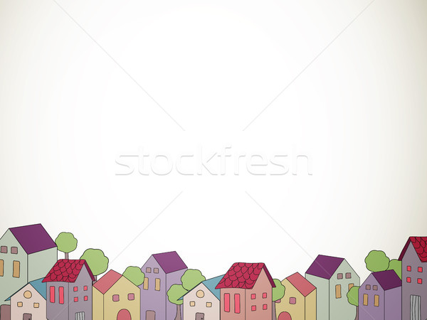 вектора город декоративный домах бумаги аннотация Сток-фото © RamonaKaulitzki