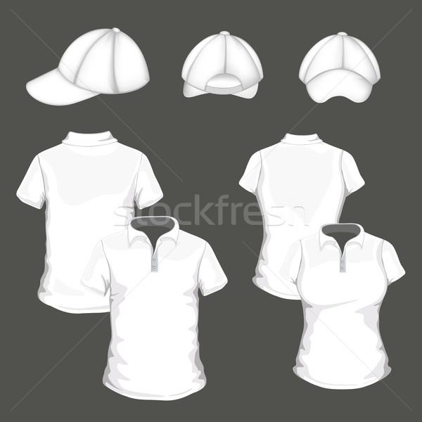 Vektor ruházat pólóing design sablon baseballsapka vásárlás Stock fotó © RamonaKaulitzki