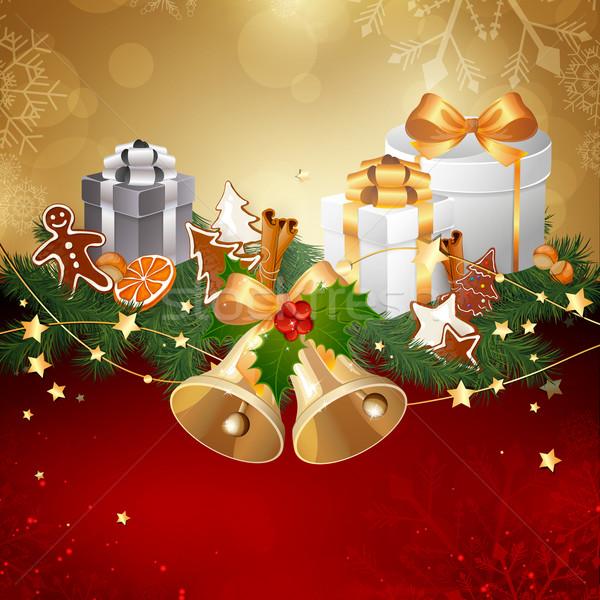вектора Рождества лента продовольствие фон зима Сток-фото © RamonaKaulitzki