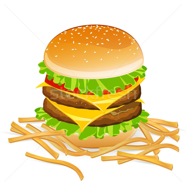 Vector Burger Stock photo © RamonaKaulitzki