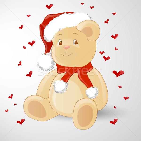 Vetor natal teddy ursinho de pelúcia feliz projeto Foto stock © RamonaKaulitzki