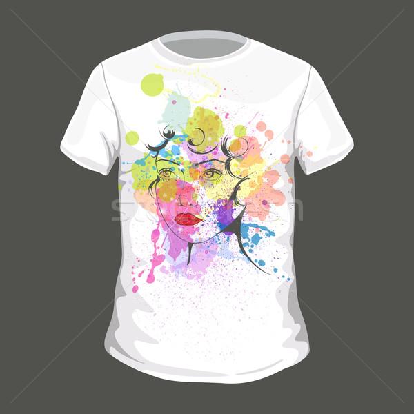 вектора футболки красочный дизайна спорт мужчин Сток-фото © RamonaKaulitzki