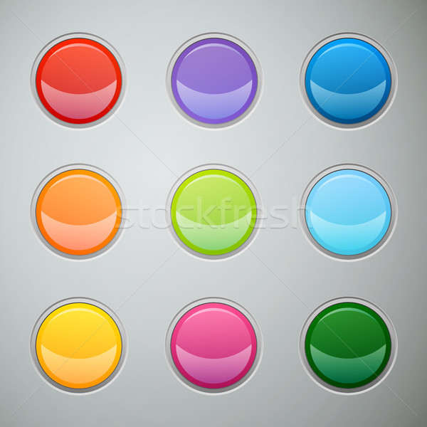 вектора Кнопки веб сайт приложение дизайна Сток-фото © RamonaKaulitzki