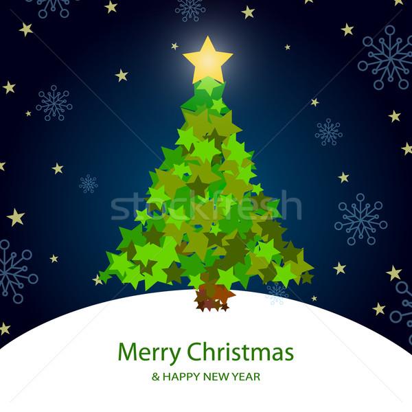 Vektör Noel dekoratif noel ağacı ağaç doğa Stok fotoğraf © RamonaKaulitzki
