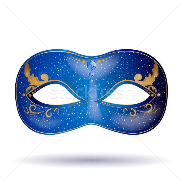 декоративный вектора маске карнавальных женщину Сток-фото © RamonaKaulitzki