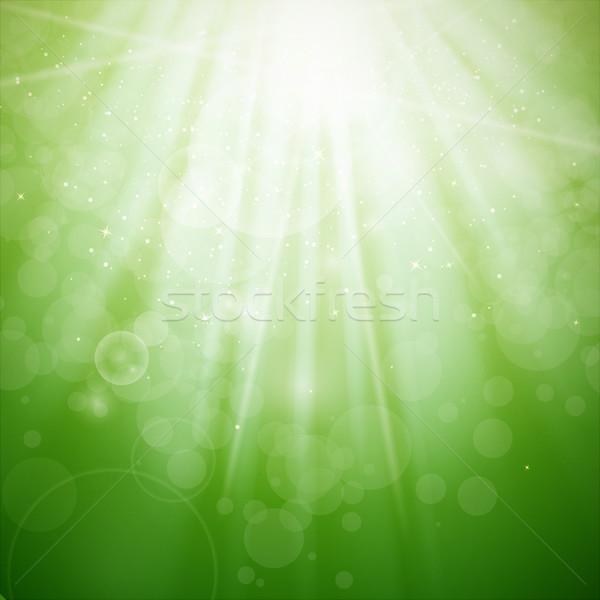 Soyut vektör yeşil ışık doğa arka plan Stok fotoğraf © RamonaKaulitzki