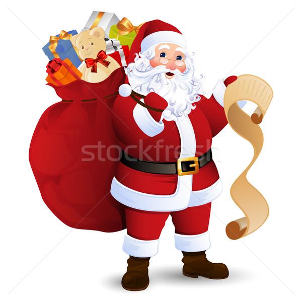 вектора Дед Мороз мешок полный подарки Сток-фото © RamonaKaulitzki