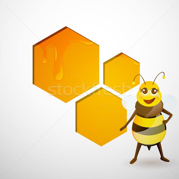 Vector Honey Background Stock photo © RamonaKaulitzki