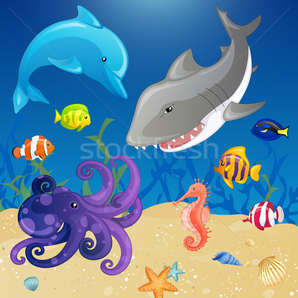 Vector Sea Creatures Stock photo © RamonaKaulitzki