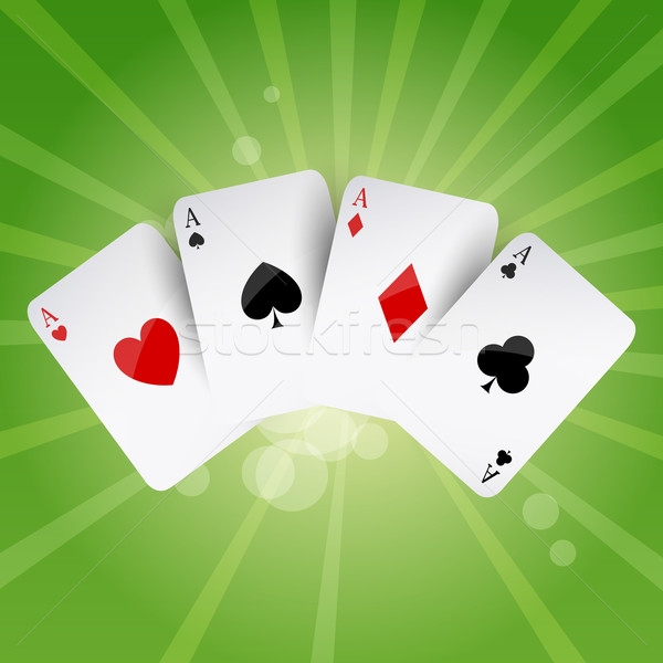 Stock photo: Vector Poker Aces