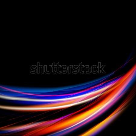 аннотация вектора динамический свет текстуры дизайна Сток-фото © RamonaKaulitzki