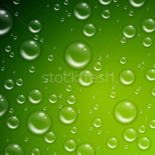 Vektör su damlası yeşil su doku arka plan Stok fotoğraf © RamonaKaulitzki