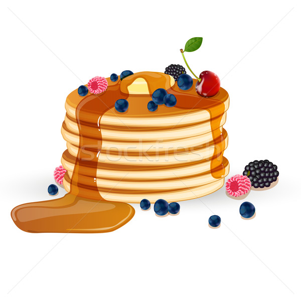 Vector Pancakes Stock photo © RamonaKaulitzki