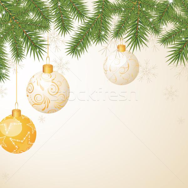 ベクトル クリスマス 幸せ 背景 フレーム 冬 ストックフォト © RamonaKaulitzki