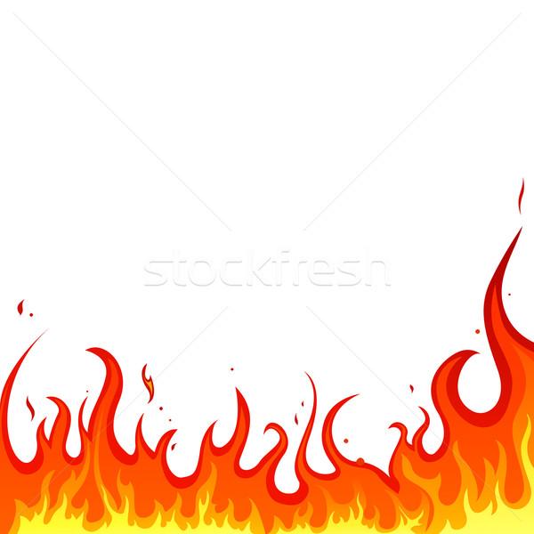 Stok fotoğraf: Vektör · yangın · kırmızı · pişirme · alev · tehlike