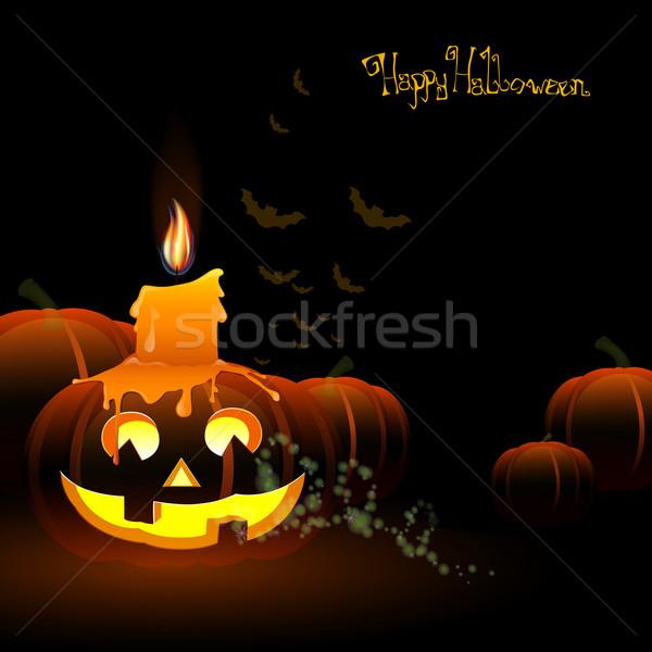 Хэллоуин бумаги текстуры ночь свечу обои Сток-фото © RamonaKaulitzki