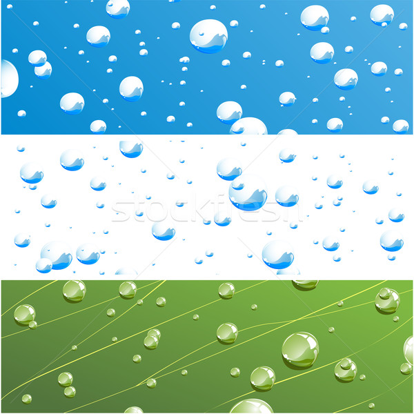 вектора капли воды различный воды дизайна фон Сток-фото © RamonaKaulitzki