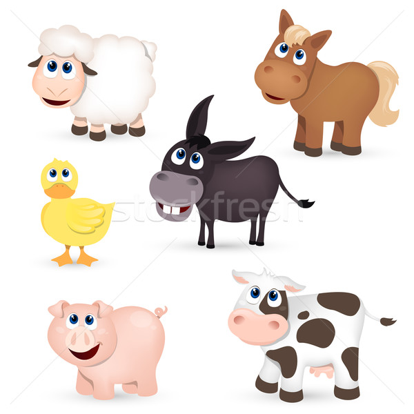 Vector Farm Animals Stock photo © RamonaKaulitzki