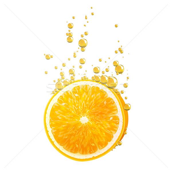 вектора оранжевый плод оранжевый плодов падение жидкость Сток-фото © RamonaKaulitzki