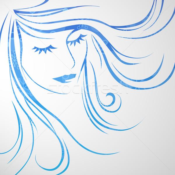 Soyut vektör kız moda gözler Stok fotoğraf © RamonaKaulitzki