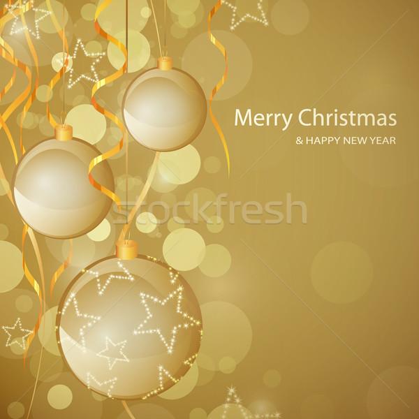 Vektör Noel dekoratif mutlu ışık arka plan Stok fotoğraf © RamonaKaulitzki