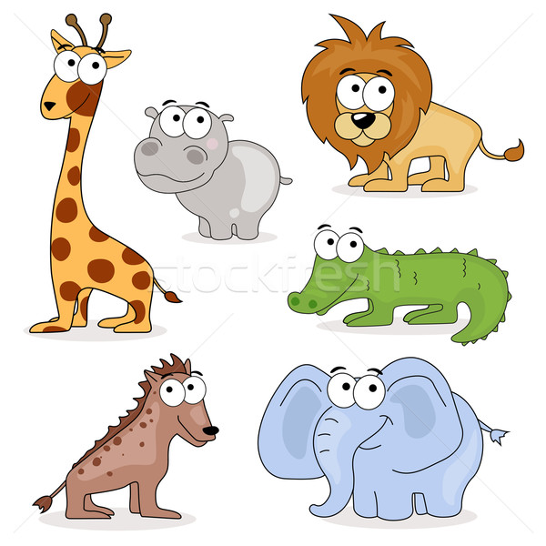 Vector African Animals Stock photo © RamonaKaulitzki
