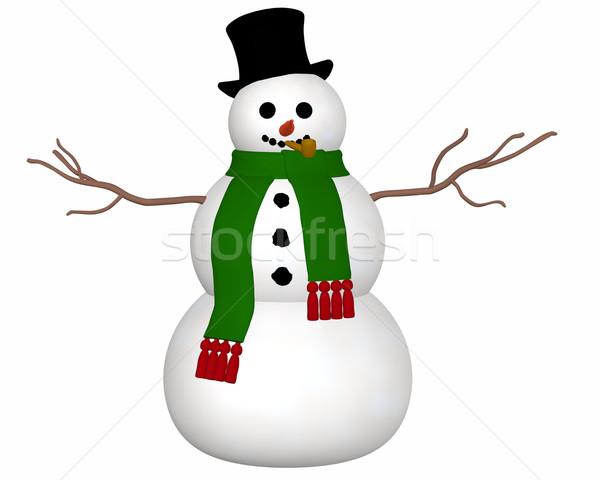 Boneco de neve ver ilustração preto Foto stock © RandallReedPhoto