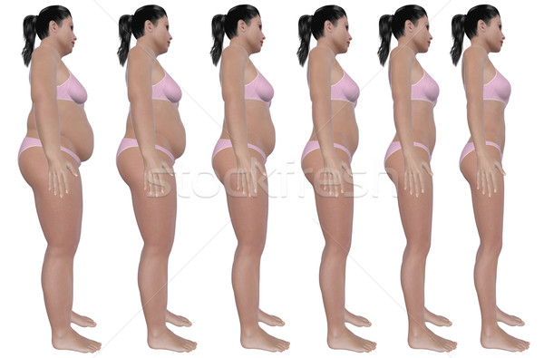 Weight Loss Progress Side View Stock photo © RandallReedPhoto