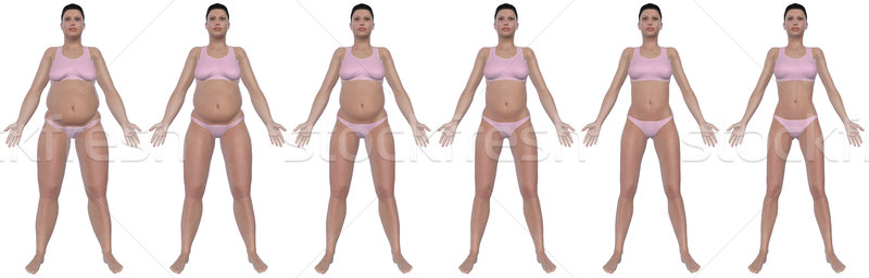 Weight Loss Progress Front View Stock photo © RandallReedPhoto