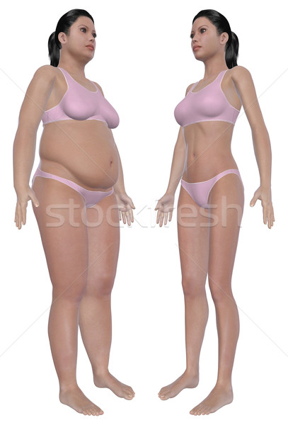 Weight Loss Before And After Angled Front View Stock photo © RandallReedPhoto