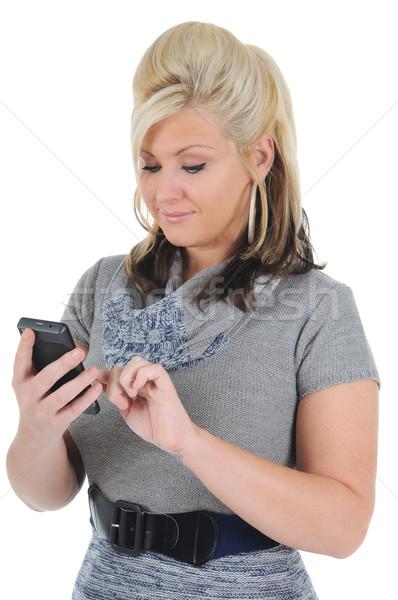 魅力のある女性 スマートフォン 魅力的な 小さな ストックフォト © RandallReedPhoto
