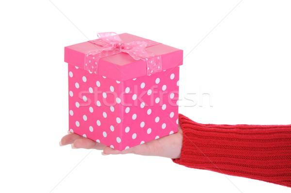 女性 手 ピンク ギフトボックス ストックフォト © RandallReedPhoto