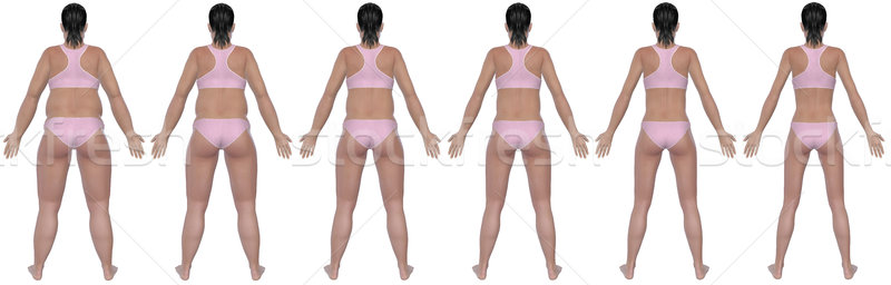 Weight Loss Progress Rear View Stock photo © RandallReedPhoto
