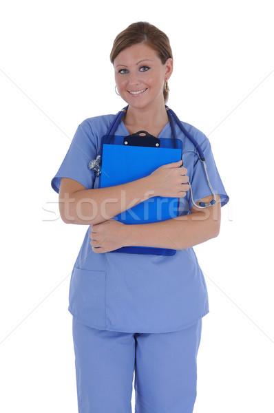 女性 看護 優しい 笑顔 ストックフォト © RandallReedPhoto