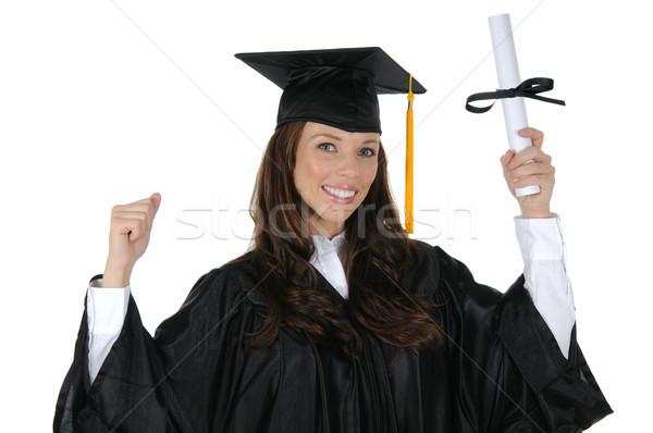 女性 大学院 魅力のある女性 着用 黒 キャップ ストックフォト © RandallReedPhoto