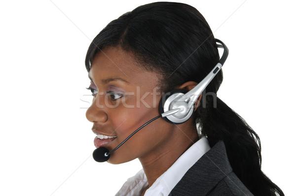 魅力的な ビジネス女性 ヘッド 10 着用 孤立した ストックフォト © RandallReedPhoto