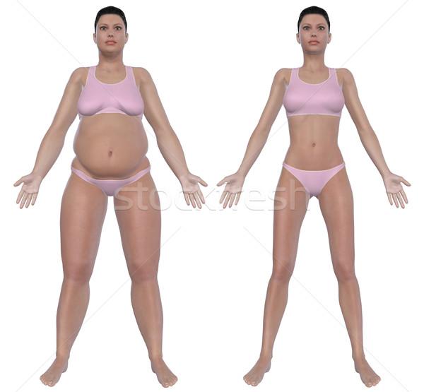 フロント 表示 実例 太り過ぎ 女性 ストックフォト © RandallReedPhoto