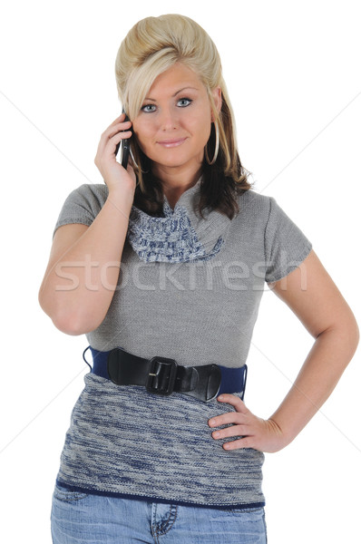 ストックフォト: 魅力のある女性 · スマートフォン · 魅力的な · 小さな