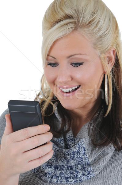魅力のある女性 スマートフォン 10 魅力的な 小さな ストックフォト © RandallReedPhoto