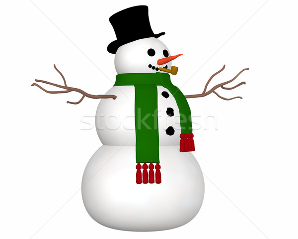 雪だるま 表示 実例 着用 黒 先頭 ストックフォト © RandallReedPhoto