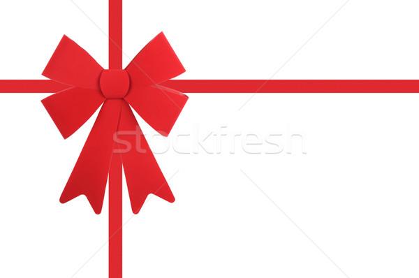 赤 弓 リボン 孤立した 白 クリスマス ストックフォト © RandallReedPhoto