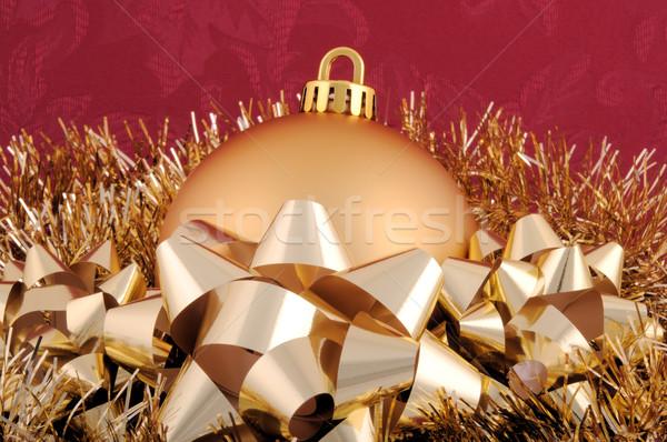 金 クリスマス 飾り 花輪 弓 ストックフォト © RandallReedPhoto