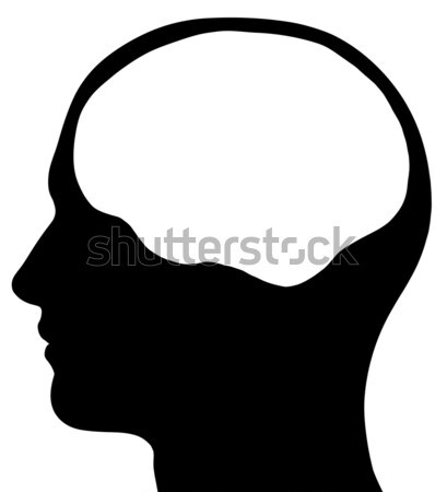 Male Head Silhouette With Brain Area Stock photo © RandallReedPhoto