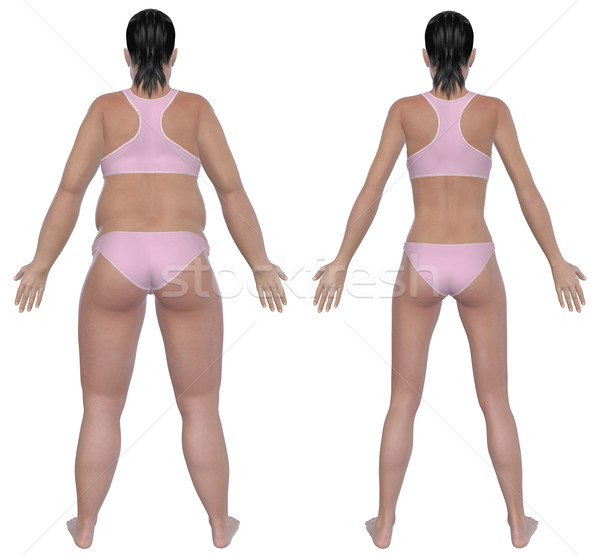 Weight Loss Before And After Rear View Stock photo © RandallReedPhoto
