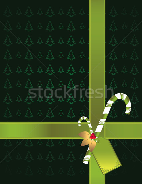 緑の木 緑 リボン キャンディ ギフト ストックフォト © randomway
