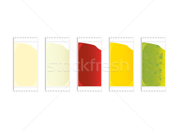 Condiment packets Stock photo © randomway