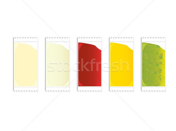 Plastica ketchup senape alimentare pacchetto Foto d'archivio © randomway