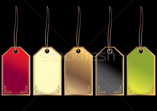 Regalo oro isolato nero verde Foto d'archivio © randomway